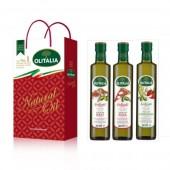 (預購單,專用橄欖油缺貨中。)奧利塔專用橄欖油250ml頂級禮盒(肉類、披薩(麵包)、蔬菜)