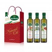(預購單,專用橄欖油缺貨中。)奧利塔專用橄欖油250ml頂級禮盒(披薩(麵包)、海鮮、蔬菜)