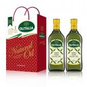 (超商取貨,免運,限購1組)奧利塔純橄欖油1L  2入禮盒組