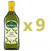 (全館單筆滿500,限台灣本島免運費;滿1500再送滿額禮。)奧利塔純橄欖油1L  9瓶組