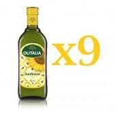 (全館單筆滿500,度小月到本月底,寄送台灣本島免運費)奧利塔頂級葵花油1L  9瓶組