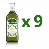 (全館單筆滿500,限台灣本島免運費;滿1500再送滿額禮。)奧利塔特級初榨橄欖油1L  9瓶組