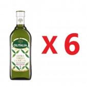 (全館單筆滿500,限台灣本島免運費;滿1500再送滿額禮。)奧利塔特級初榨橄欖油1公升 6瓶組