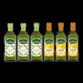 (全館單筆滿500,度小月到本月底,寄送台灣本島免運費)精緻橄欖油1L 3瓶+頂級芥花油750ml 3瓶,開心組合。