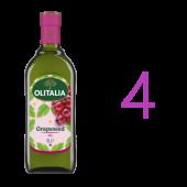 (全館單筆滿500,限台灣本島免運費;滿1500再送滿額禮。)葡萄籽油1L 4瓶組