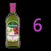 (全館單筆滿500,限台灣本島免運費;滿1500再送滿額禮。)奧利塔葡萄籽油1公升6瓶組
