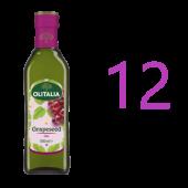 (全館單筆滿500,限台灣本島免運費;滿1500再送滿額禮。)奧利塔葡萄籽油500ml整箱搶購價