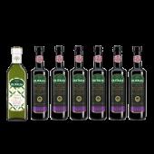 (全館單筆滿500,度小月到本月底,寄送台灣本島免運費)目前最夯的油醋組合。(巴薩米克醋500ml 6瓶 +特級冷壓(初榨)橄欖油500ml 1瓶)