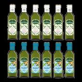 (全館單筆滿500,限台灣本島免運費;滿1500再送滿額禮。)超夯人氣組合(特橄500ml 6瓶+玄米500ml 6瓶)
