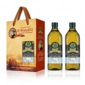 (全館單筆滿500,限台灣本島免運費;滿1500再送滿額禮。)義大利Giurlani 喬凡尼玄米油1L(玻璃瓶)  2入禮盒
