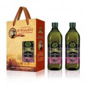(全館單筆滿500,限台灣本島免運費;滿1500再送滿額禮。)義大利Giurlani 喬凡尼葡萄籽油1L(玻璃瓶)  2入禮盒