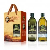 (全館單筆滿500,限台灣本島免運費;滿1500再送滿額禮。)喬凡尼(老樹純橄欖油 1L + 玄米油1L) 禮盒