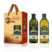 (全館單筆滿500,限台灣本島免運費;滿1500再送滿額禮。)喬凡尼(老樹純橄欖油 1L + 葵花油1L) 禮盒