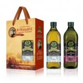 (全館單筆滿500,限台灣本島免運費;滿1500再送滿額禮。)喬凡尼(玄米油 1L + 葡萄籽油1L) 禮盒