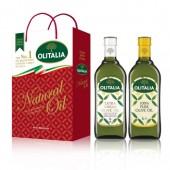 (全館單筆滿500,度小月到本月底,寄送台灣本島免運費)特級初榨橄欖油 1L + 純橄欖油 1L  禮盒組