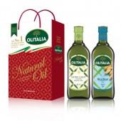 (全館單筆滿500,限台灣本島免運費;滿1500再送滿額禮。)玄米油 1L + 精緻橄欖油 1L 禮盒組