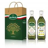 (全館單筆滿500,度小月到本月底,寄送台灣本島免運費)特級初榨橄欖油 750ml + 高溫專用葵花油 750ml  禮盒組