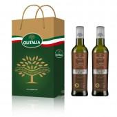 (全館單筆滿500,度小月到本月底,寄送台灣本島免運費)奧利塔西西里橄欖油( Sicilia  I.G.P.  Extra Virgin Olive Oil) 500ml 2入禮盒