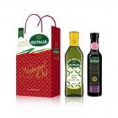 (預購單,巴薩米克醋缺貨中。)純橄500ml+巴薩米克醋250ml ,禮盒組