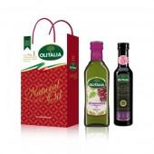 (全館單筆滿500,限台灣本島免運費;滿1500再送滿額禮。)葡萄籽500ml + 巴薩米克醋250ml,禮盒組