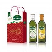 (全館單筆滿500,限台灣本島免運費;滿1500再送滿額禮。)特級初榨橄欖油 500ml + 芥花油 500ml  禮盒組