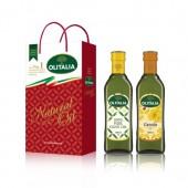 (全館單筆滿500,限台灣本島免運費;滿1500再送滿額禮。)純橄欖油 500ml + 芥花油 500ml  禮盒組
