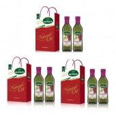 (全館單筆滿500,限台灣本島免運費;滿1500再送滿額禮。)餽贈送禮葡萄籽油(500ml新包裝,雙入禮盒3個),高貴大方    禮盒組