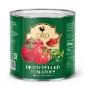 (全館單筆滿500,度小月到本月底,寄送台灣本島免運費)義大利拿坡里ORO番茄罐(2550g),去皮切丁番茄。