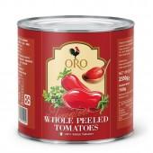 (全館單筆滿500,限台灣本島免運費;滿1500再送滿額禮。)義大利拿坡里ORO番茄罐(2550g),去皮整粒番茄。