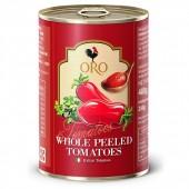 (全館單筆滿500,限台灣本島免運費;滿1500再送滿額禮。)義大利拿坡里ORO番茄罐(400g),去皮整粒番茄。
