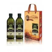 (全館單筆滿500,限台灣本島免運費;滿1500再送滿額禮。)喬凡尼老樹純橄欖油 1L  2入禮盒