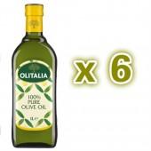 (全館單筆滿500,度小月到本月底,寄送台灣本島免運費)奧利塔純橄欖油1公升6瓶組