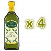 (全館單筆滿500,度小月到本月底,寄送台灣本島免運費)奧利塔純橄欖油1公升4瓶組